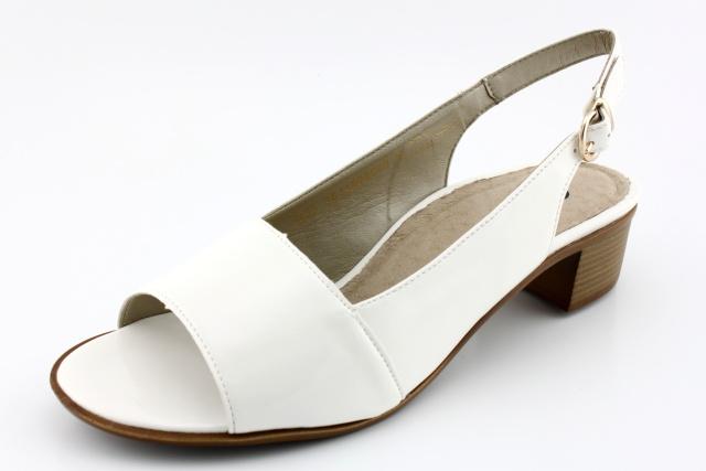 Dámská obuv nadměrná DF4952 bílá