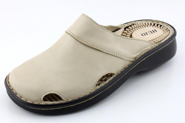 HO001 krémová - nadměrná obuv dámská