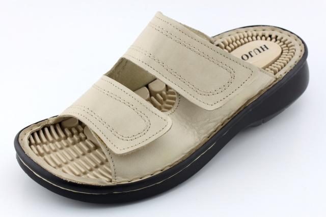 HO003 krémová - nadměrná obuv dámská