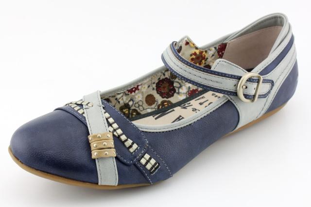 Nadměrná dámská obuv MUSTANG MU215 blau
