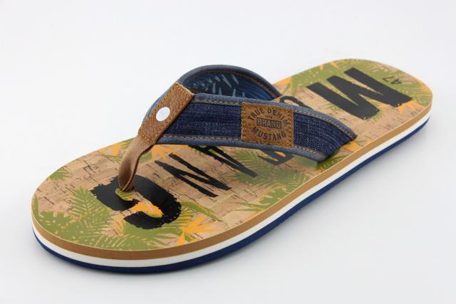 Nadměrná obuv - žabky MUSTANG MU4113 jeans
