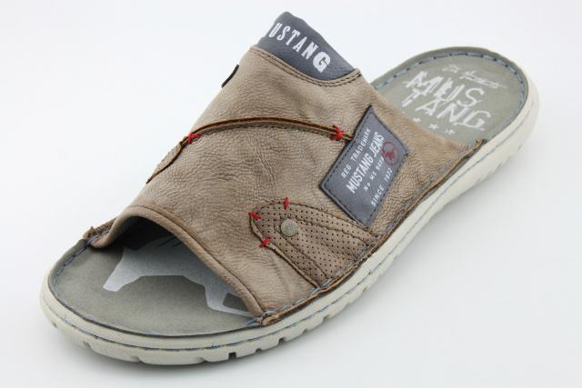 Pantofle nadměrné MUSTANG MU4087 taupe