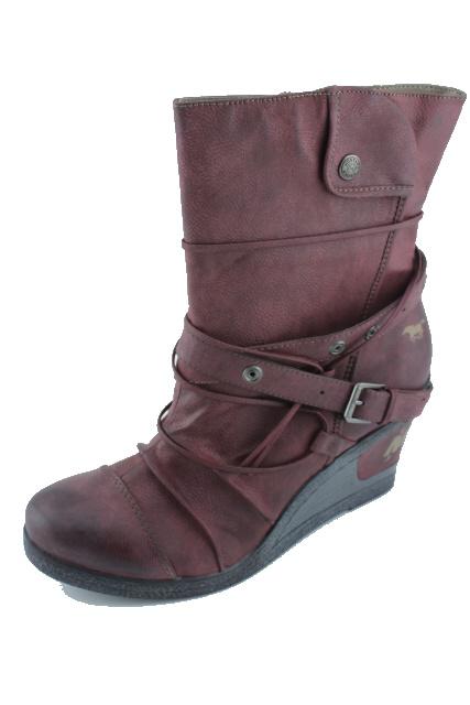 Nadměrná obuv MUSTANG MU1083 bordeaux