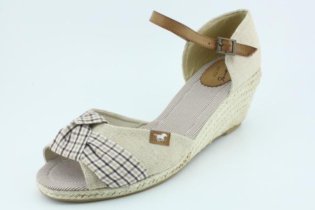 Dámská nadměrná obuv MUSTANG MU1066 beige